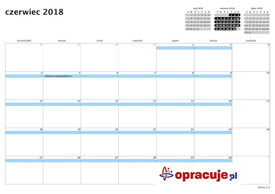Jak liczyć okres wypowiedzenia rozwiązania umowy o pracę? Kalendarz z wizualizacją terminów składnia wypowiedzenia oraz naliczania okresu wypowiedzenia.
